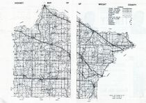 County Highway Map, Wright County 1956